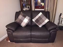 Scs Sofas Leather Sofa 2 X Brown Leather Recliner Sofas 2 Months Old From Scs Libra Sofa