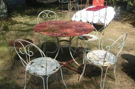 french cafe chairs metal set 4 french metal cafe chairs at