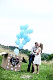 gender reveal balloons in a box custom he or she last name gender reveal balloon box sign