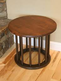 built an alder lamp table with metal spindles woodworking network