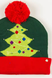 tree light up pom beanie ragstock