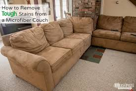 how to remove tough stains from a microfiber couch living well mom