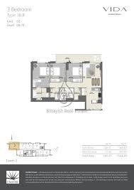 3 Floor Mall by Vida Residences Dubai Mall Floor Plans