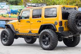 yellow jeep wrangler unlimited 2014 custom jeep wrangler unlimited rubicon amp d edition for sale