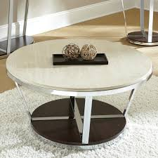 Round Dark Wood Coffee Table - coffee table graceful low round white marble coffee table iron