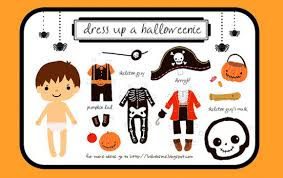 halloween dress up paper doll templates at home with kim vallee