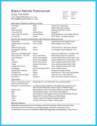 dance resume example sample audition resumes picture of template resume beginner large dance resume examples resume format download pdf