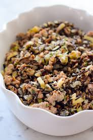 sausage and apple rice dressing
