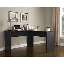 L Shaped Desks For Home Ameriwood Home The Works L Shaped Desk Cherry Gray Walmart