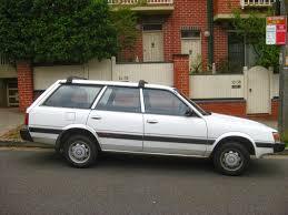 subaru loyale 1990 aussie old parked cars 1989 subaru l series 4wd wagon
