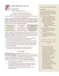 Best Resume Format For Nurses by Labor And Delivery Nurse Resume Berathen Com