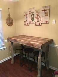 diy bar height table rustic bar height table by reimaginedwoodcraft on etsy tay s