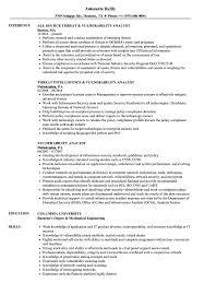 sle of resume vulnerability analyst resume sles velvet