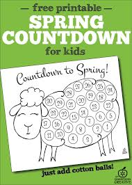spring countdown craft for kids free printable