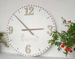 Decorative Wall Clocks For Living Room White Wall Clock Etsy