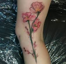 36 stunning watercolor flower tattoos tattooblend