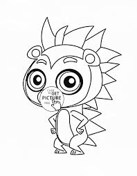 littlest pet shop rassell ferguson coloring page for kids animal