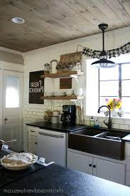 farmhouse kitchen light fixtures white spray paint wood cabi spray