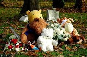 remembrance teddy bears teddy memorial to baby p in garden of remembrance where the