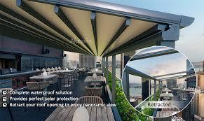 Pergola Awning Retractable by China Motorized Waterproof Pergola Retractable Roof Awning Outdoor