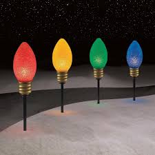 trim a home 4 ct large bulb pathway lights shop your