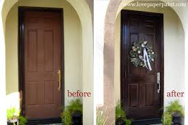 Painting Exterior Door Faux Wood Doors Paper Paint