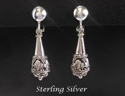 clip on earrings australia sterling silver clip on earrings artisan crafted 204 clipon 204