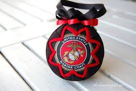marine corp ornament semper fi quilted