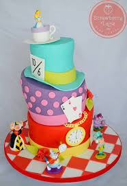 alice in wonderland mad hatters tea party cake made for an u2026 flickr