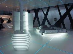 Bright Casting Light In Dark Accents Futuristic Bedroom Design In - Futuristic bedroom design