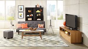 Design For Oak Tv Console Ideas Furniture Decorative Area Rug Design Ideas With Glass Window Plus
