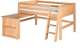 Low Loft Bunk Bed Low Loft Bed Retractable Desk Panel Clear