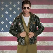 mens er jacket pilot costume