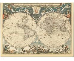 World Wall Map by World Antique Wall Map 1664 Maps Com