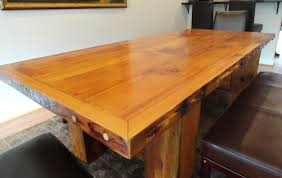 Wood Kitchen Tables Love The Color And Character Of This Wooden - Custom kitchen tables