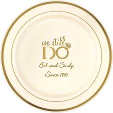 anniversary plate gold trim anniversary cake plates personalized my wedding