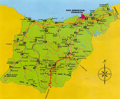 San Sebastian Spain Map by Uk Cider Slow Food Article