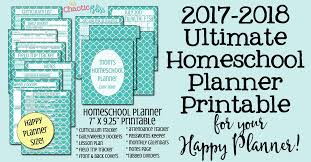 printable homeschool daily planner ultimate homeschool planner printable for your happy planner this