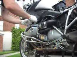 bmw motorcycle change and filter change for bmw r1200gs