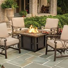 Agio Patio Dining Set by Agio Springfield Gas Fire Pit