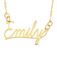 make your own name necklace cursive name necklace in 10k gold 1 line 16 personalized