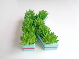 diy mini monogram fake planter