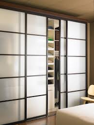 Wall Of Closets For Bedroom Bedroom Sliding Closet Doors With Frosted Glass Door Connected By
