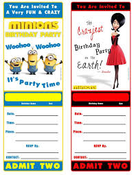 birthday invitation cards templates free download addnow info