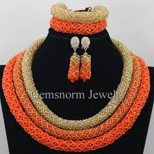 wedding gold set aliexpress buy delicate 3 layers gold coral wedding