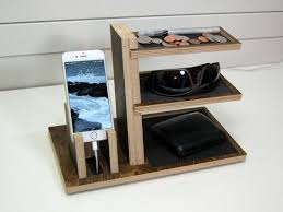 diy wood charging station wooden charging station valet 25 unique docking station ideas on