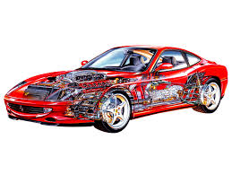 ferrari front drawing 129 best cutaway stock cars images on pinterest cutaway car and