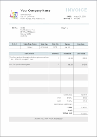 Service Invoice Template Pdf Blank Invoice Template For Microsoft Word Selimtd