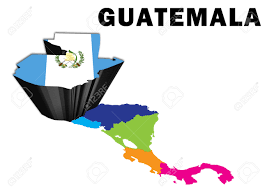 Blank Map Of The Americas by Outline Map Of Central America With Guatemala Raised And