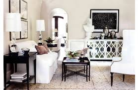 modern buffet table living room contemporary with arched doorway